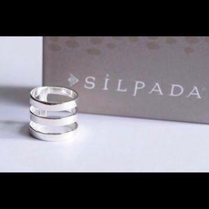Slipada! Stacked Look Silver Ring